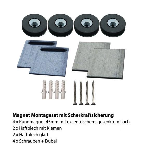 Magnet Montageset 3 für Küchenrückwand