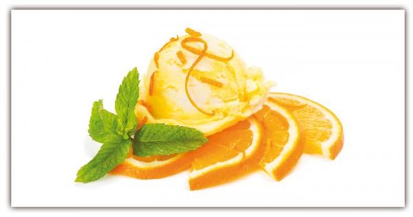 Spritzschutz Orangeneis 100x50