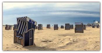 Spritzschutz Am Strand 100x50