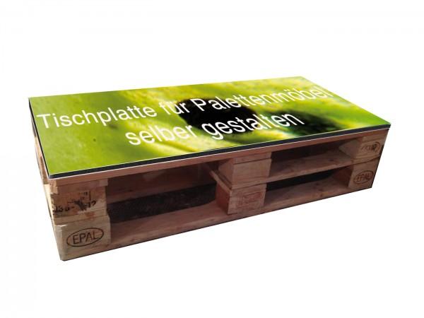 Palettenmöbel Tischplatte individuell bedruckt