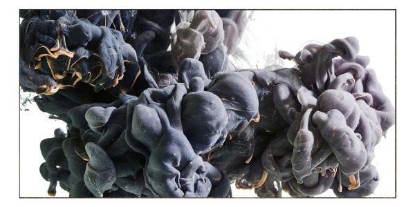 Spritzschutz Farbexplosion Blau