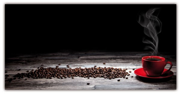 Spritzschutz Kaffeewelt 100x50