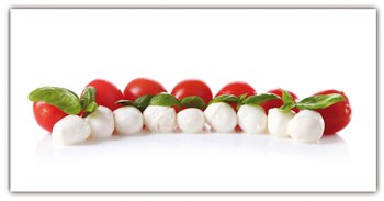 Spritzschutz Tomate-Mozzarella 100x50